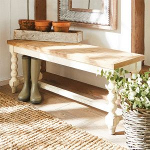 Fir Wood Farmhouse Seat Bench In 2020 Decor Farmhouse Decor