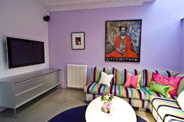 Large And Colouful House On Portland Road In London The Art Dream - Colorful-home-interior-on-portland-road-in-london