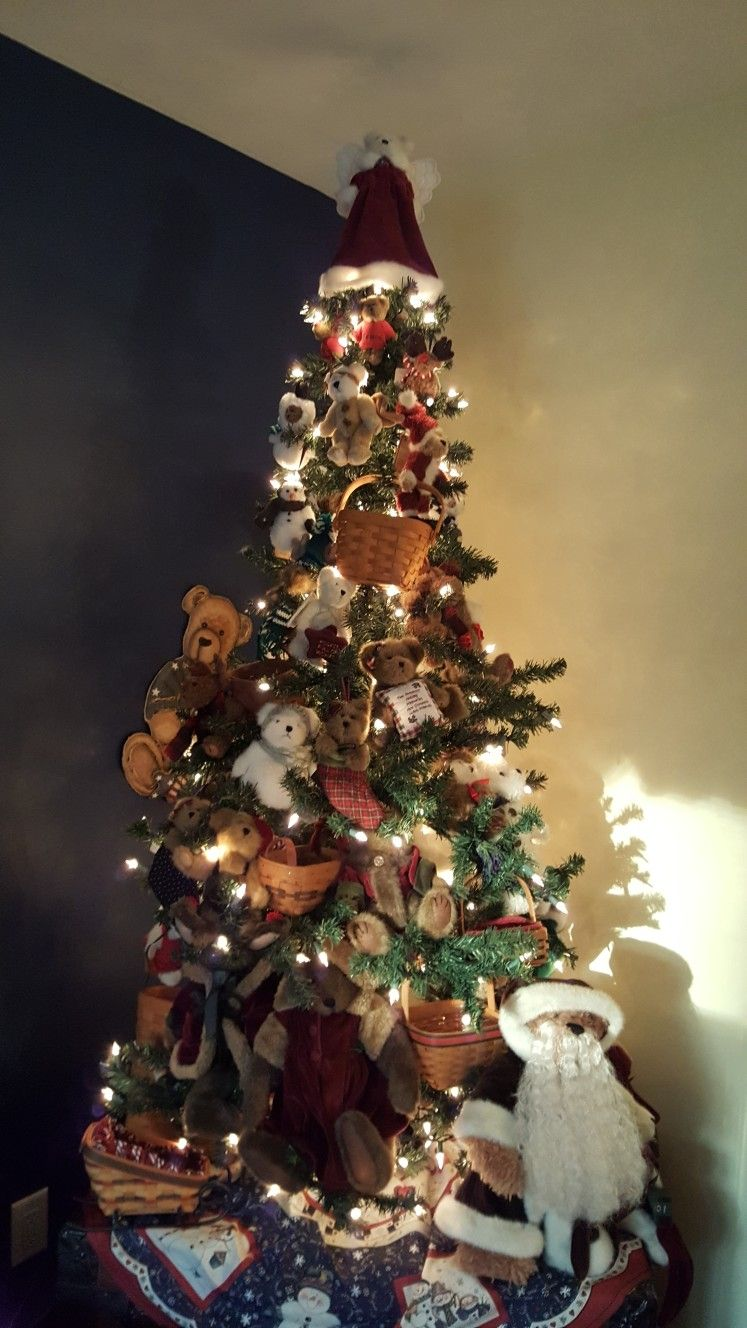 Boyds Bear Tree And Longaberger Baskets Winter Christmas Holiday Decor Holiday