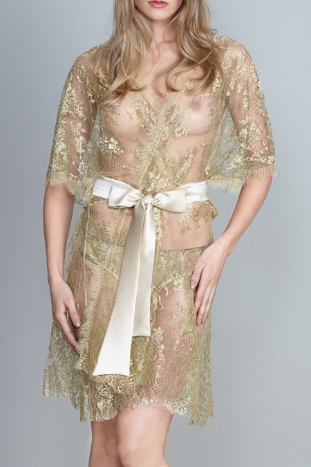 """Gilda & Pearl - """"Harlow Allover Lace Kimono"""""""