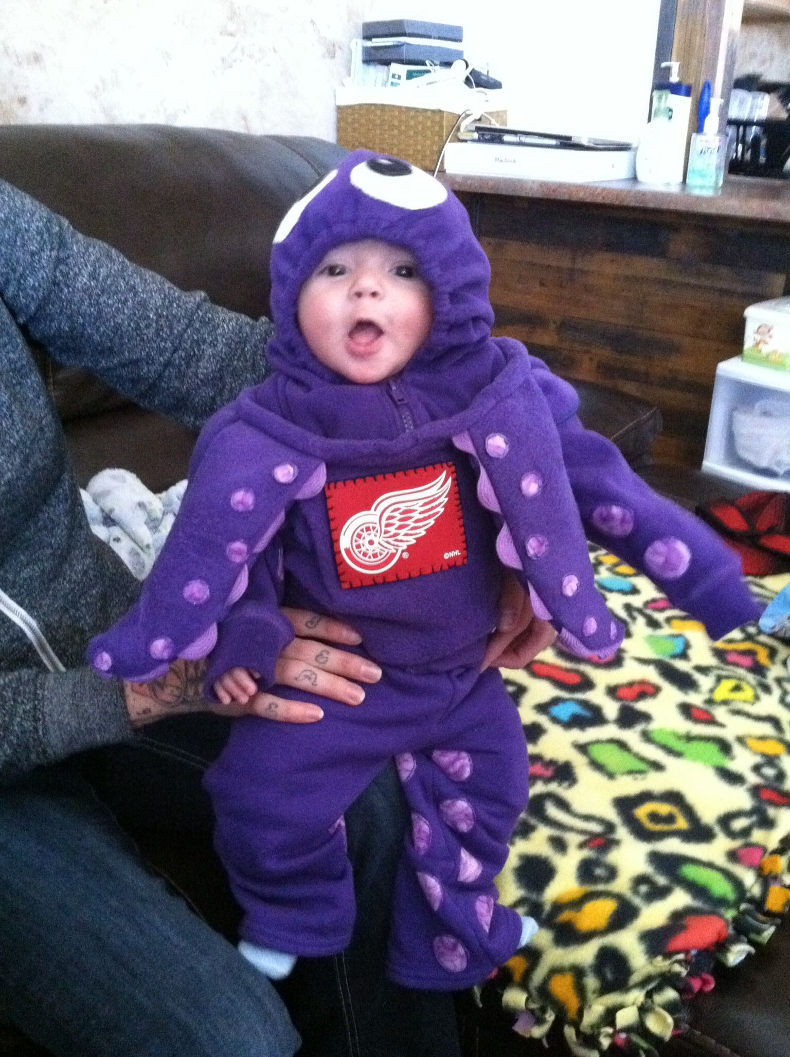 Detroit Red Wings hockey Octopus Halloween costume -- there's ...