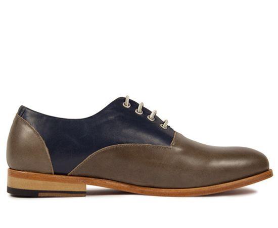 Zuriick ズリィーク Mens (メンズ) - Reuben (ルーベン) Oily Navy (オイリーネイビー) Oiled Leather Saddle Shoes オイルドレザーサドルシューズ - SIAMESE (サイアミーズ) オンラインセレクトショップ
