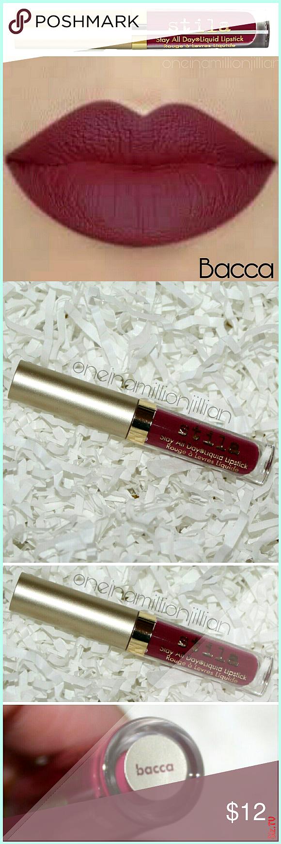 Stila Stay all Day Liquid Lipstick  Bacca New Never Used Authentic 05oz Travel Sz fs  08oz 22  Colo