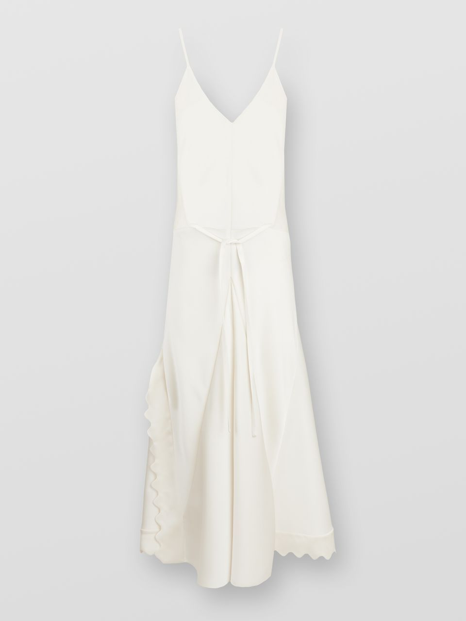 Sleeveless Dress In Satin Crepe With Scalloped Trim Chloe Us Dresses Sleeveless Dress Fashion [ 1280 x 960 Pixel ]