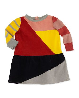 Colorblock Corduroy Dress, 3-24 Months by Stella McCartney at Neiman Marcus.