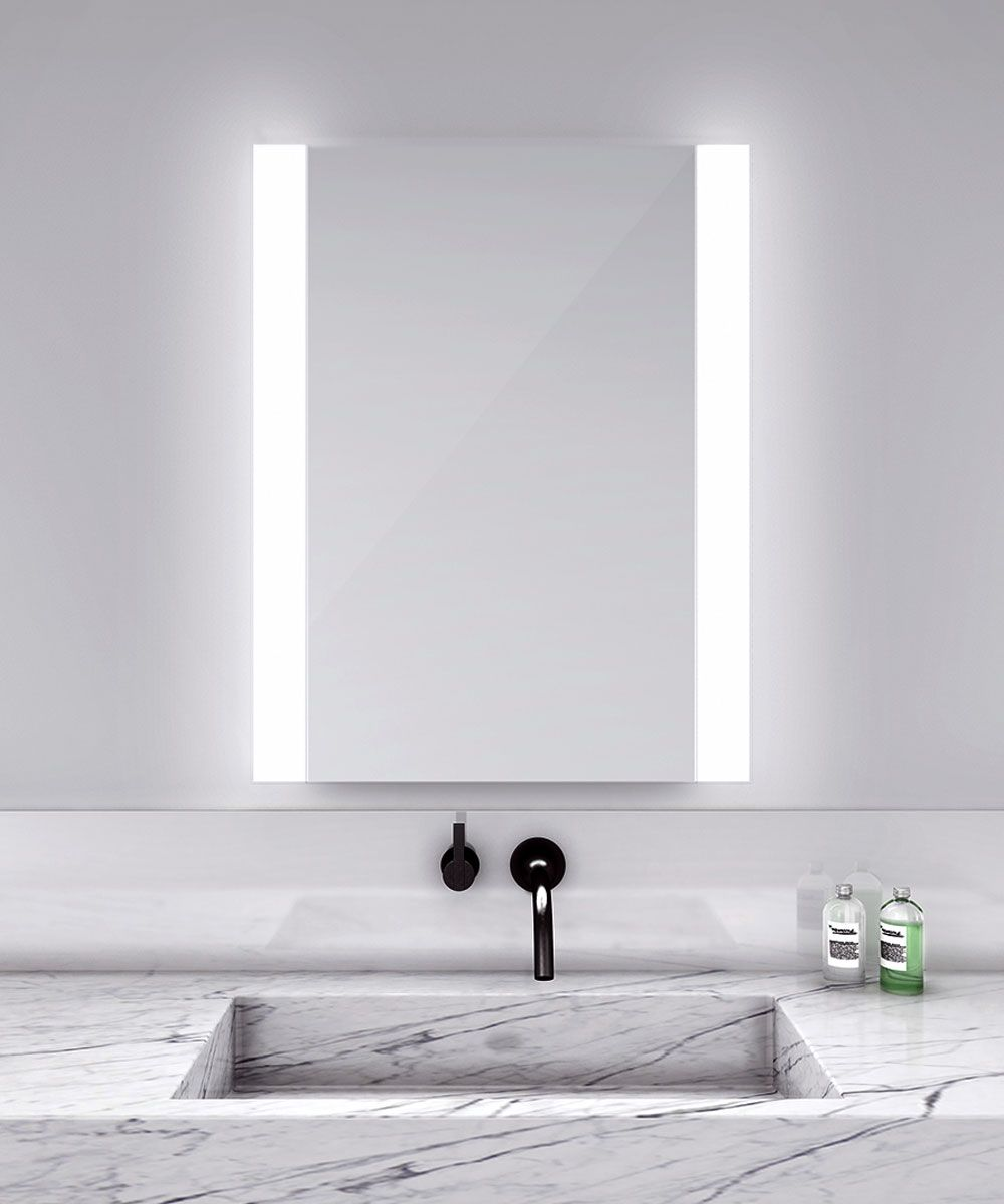 Novo Vertical Lighted Mirror Electric Mirror At