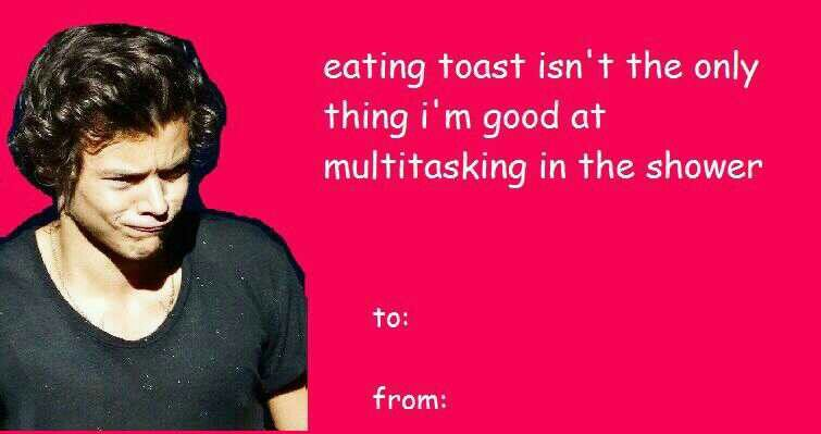 One direction funny valentines card Follow mee – Funniest Valentines Card