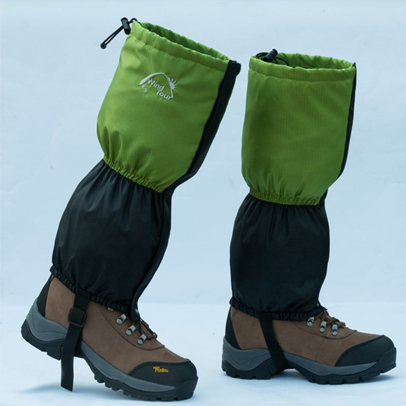 Pair Waterproof Climbing Snow Legging Boot Gaiters Trouser Protector Cover Wrap