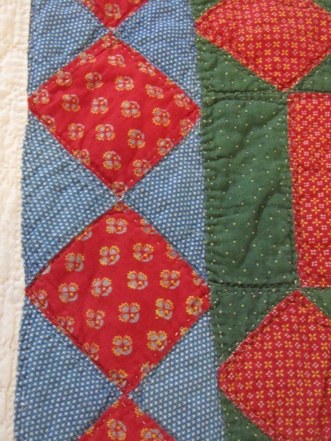 1840s PA Friendship Quilt, turkey red, 88 x 85 inches, hand ... : best batting for hand quilting - Adamdwight.com