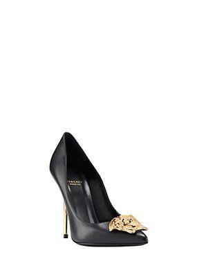 Versace - Palazzo Leather Heels | Pumps