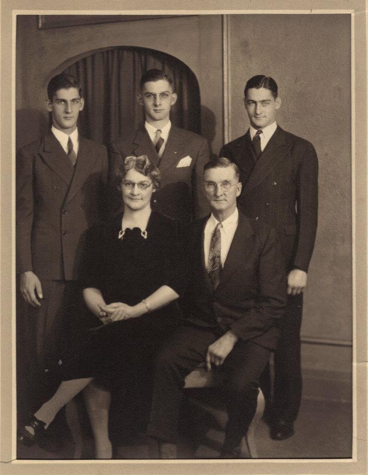 Grandma (Jennie)  and Grandpa  (Carmen Sr. Johnson.  Dad (Carmen Jr), Edgar, Richard