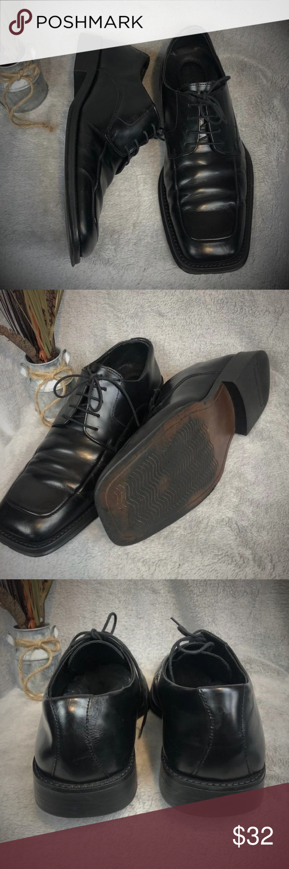 Kenneth Cole Black Dress Shoe Sim Plicity Size 11 Men S Kenneth Cole Dress Shoes Lace Up Black Dress Shoe S Black Dress Shoe Lace Dress Shoes Dress Shoes [ 1740 x 580 Pixel ]