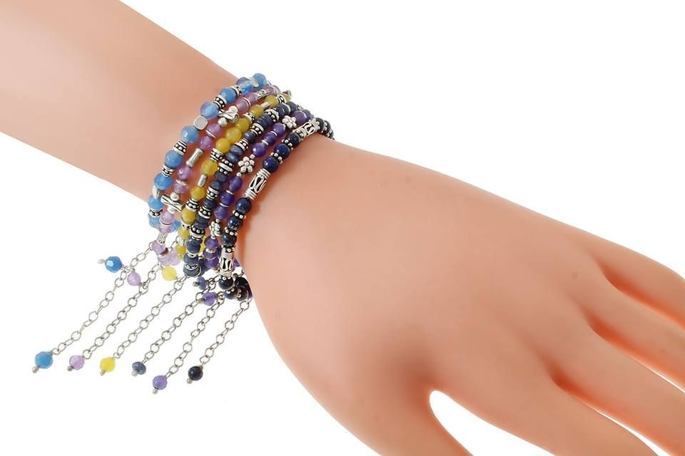 Check Out #Blue #Agate #Facet : Code : MS04656 .... Price : 295 LE  #Purple #Agate #Bracele : Code : MS04630 ... Price : 225 LE  #Yellow #Agate #Bracelet : Code : MS04659 .... Price : 225 LE  #Blue #Lapis #Lazuli #Bracelet : Code : MS04635 .... Price : 295 LE http://goo.gl/vZldjw