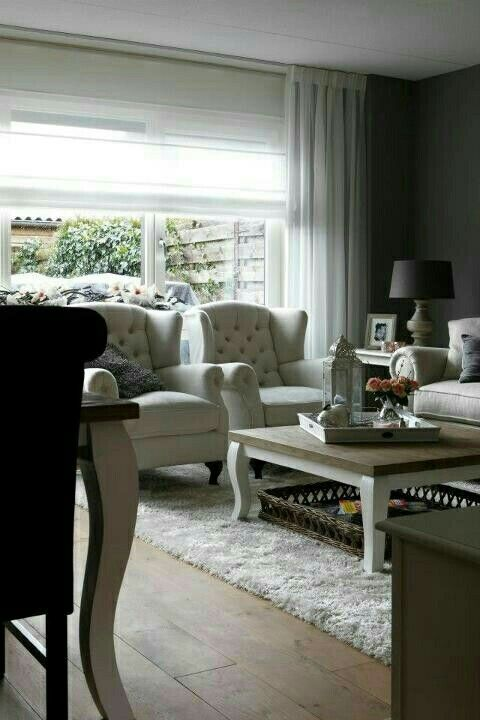 Landelijke woonkamer, landelijke stijl / inrichting. | Wonen ...