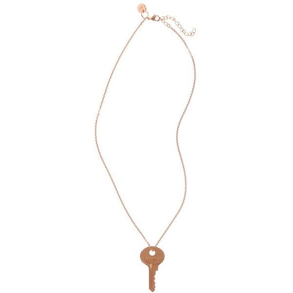 Women's The Giving Keys 'Dainty - Inspire' 19-Inch Key Pendant... ($45) ❤ liked on Polyvore featuring jewelry, necklaces, raw copper, copper necklace, copper jewelry, copper pendant jewelry, chain pendants and copper chain necklace