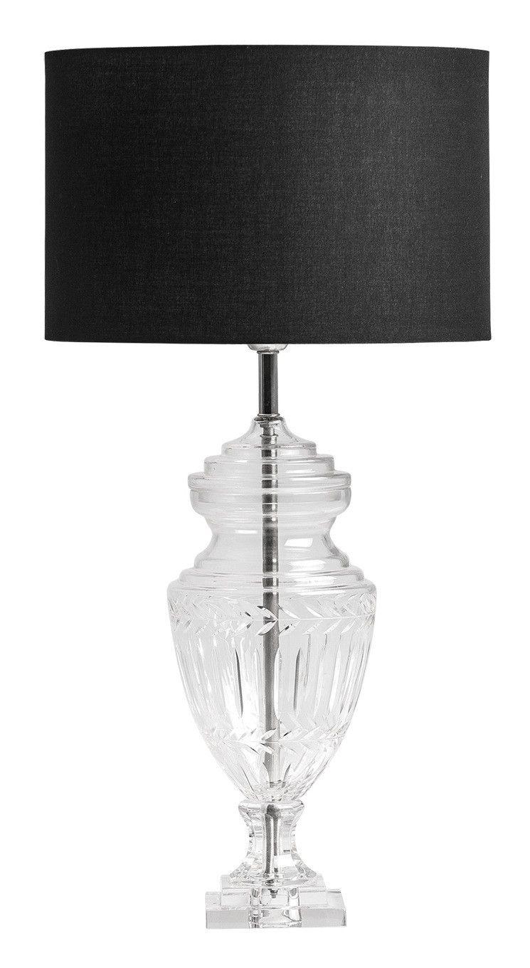 Monter Une Lampe De Chevet lampe de table tissu noir et pied verre bound en 2020