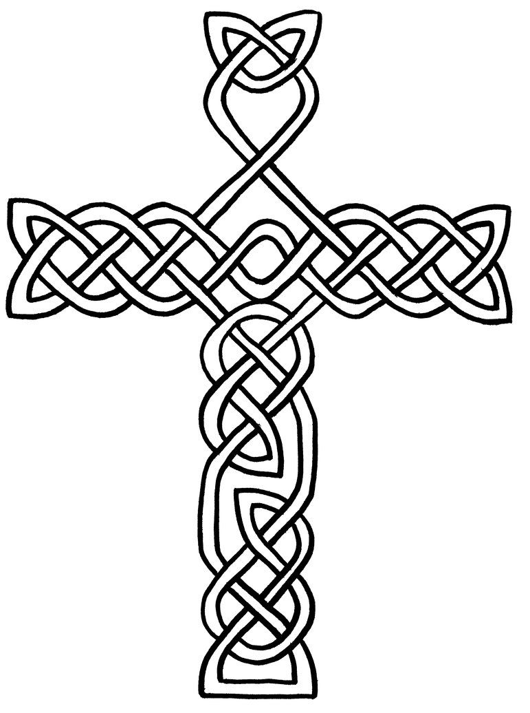 printable celtic cross coloring pages for kids and for adults