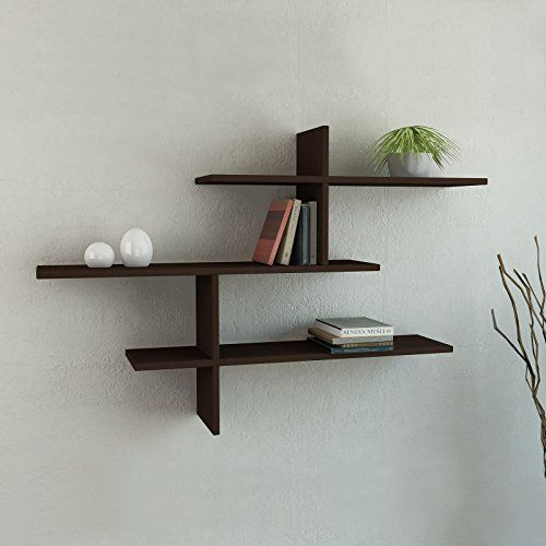 Leo 3 Shelf Floating Wall Shelf Wenge H 32 W 46 D 8 6 Https Www Amazon Com Dp B00wfj309c R Modern Wall Shelf Corner Shelf Design Floating Wall Shelves