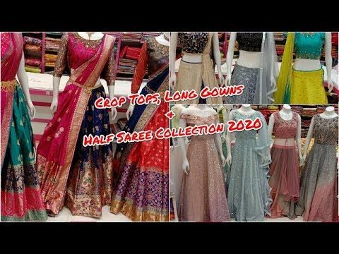 Photo of Designer Boutique Collection Crop Tops, Long Gowns & Half Sarees | Wedding Collection @ LOVELY LADY