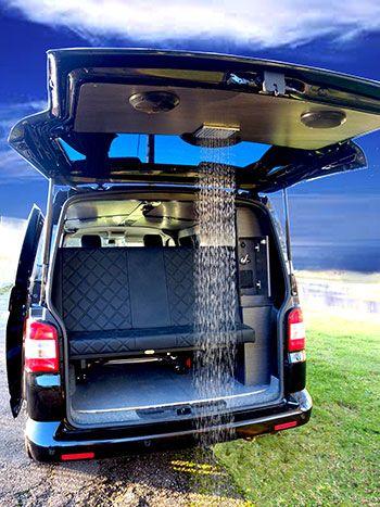 the leisure hubs tailgate mounted surf shower van bus home rh pinterest es Car Van Bus School Van