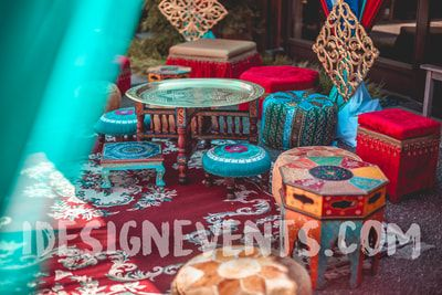 Outdoor Mehndi Party : Outdoor moroccan theme decor backdrop seating rugs lanterns for