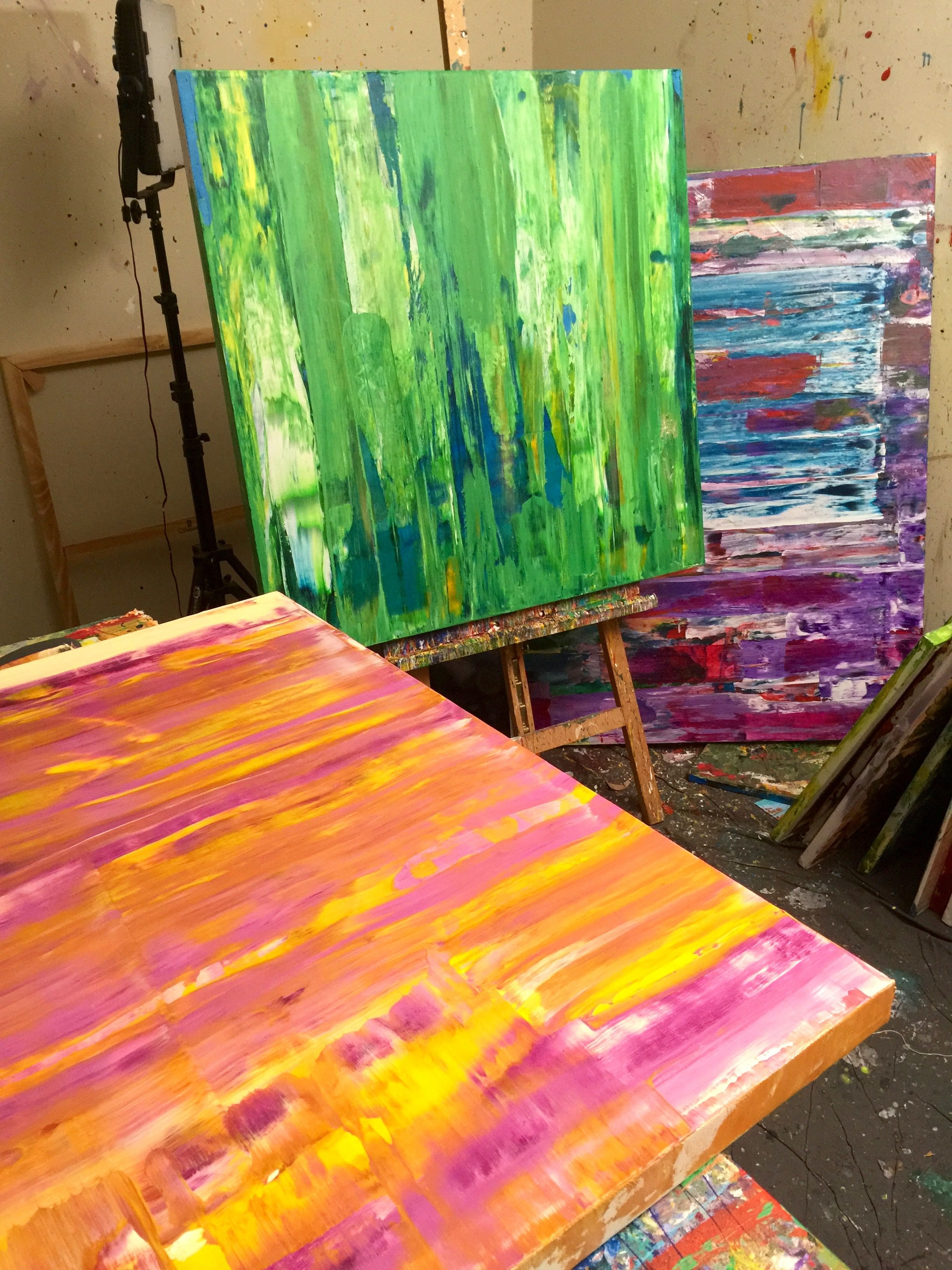 www.NestorToro.com Starting a new series #art #abstract #modern #expressionism #contemporary #LA #acrylics