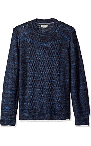 Calvin Klein Jeans Men's Space Dyed Cable Crew Neck Sweater ...