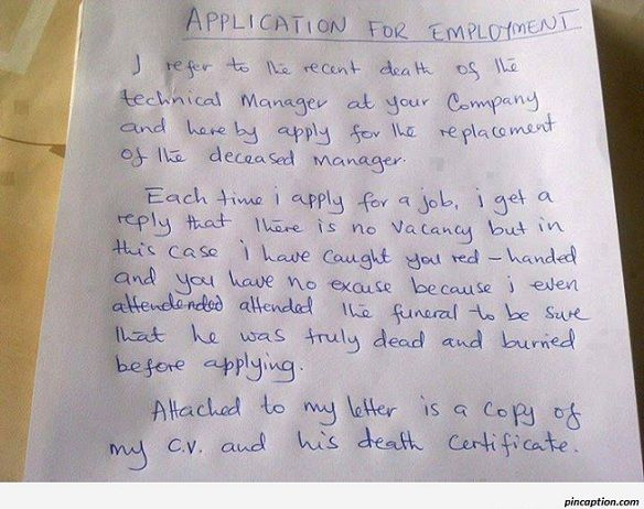 Application For Employment  Lol    Captions And Funny