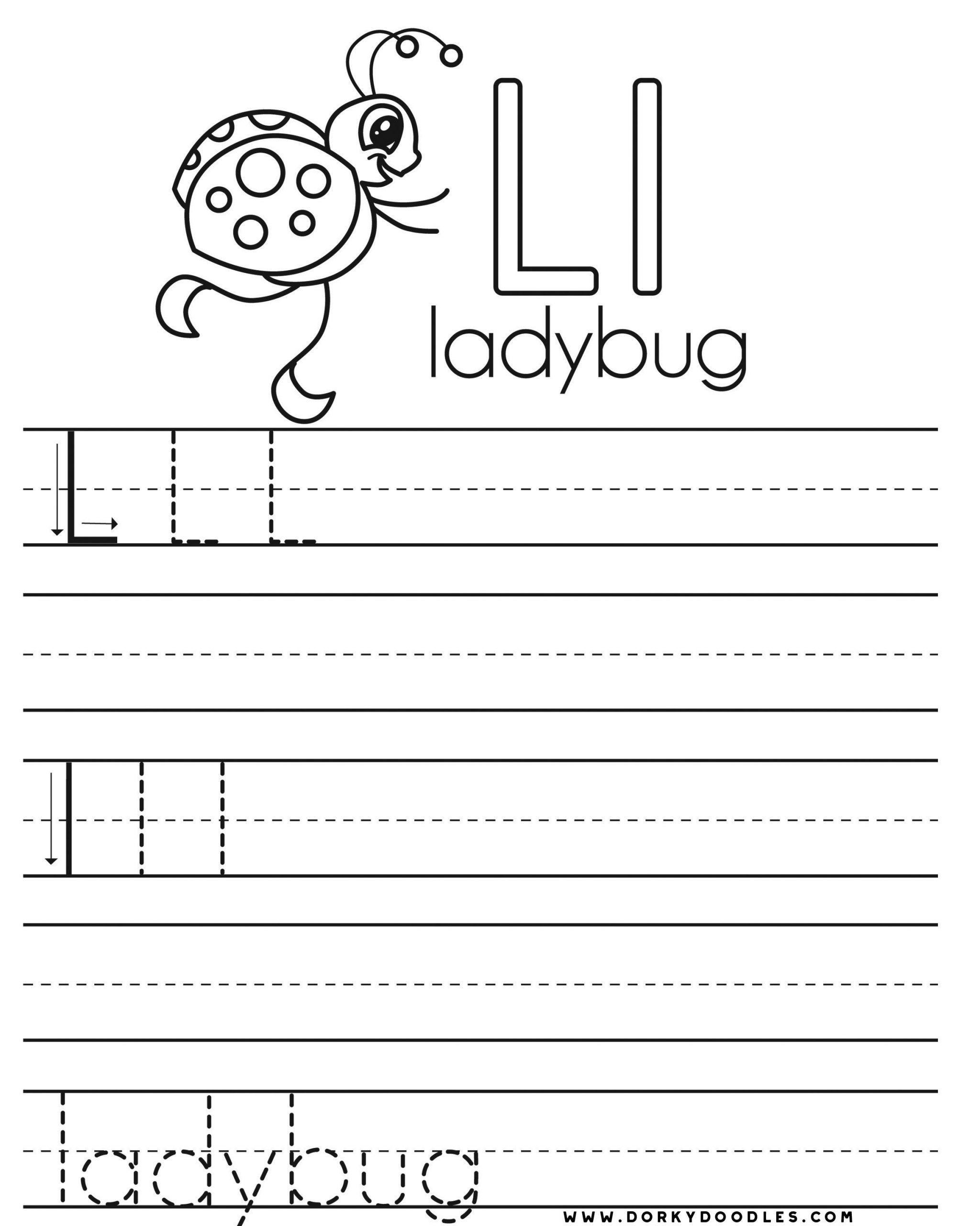 Letter L Worksheets For Preschool In 2020 Lettering Practice Handwriting Practice Worksheets Letter L Worksheets