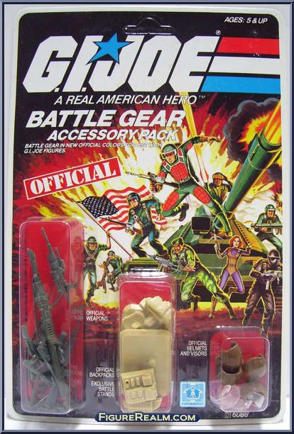 GI Joe Weapon Gung Ho Backpack from Battle Gear 1983 Original Figure Accessory