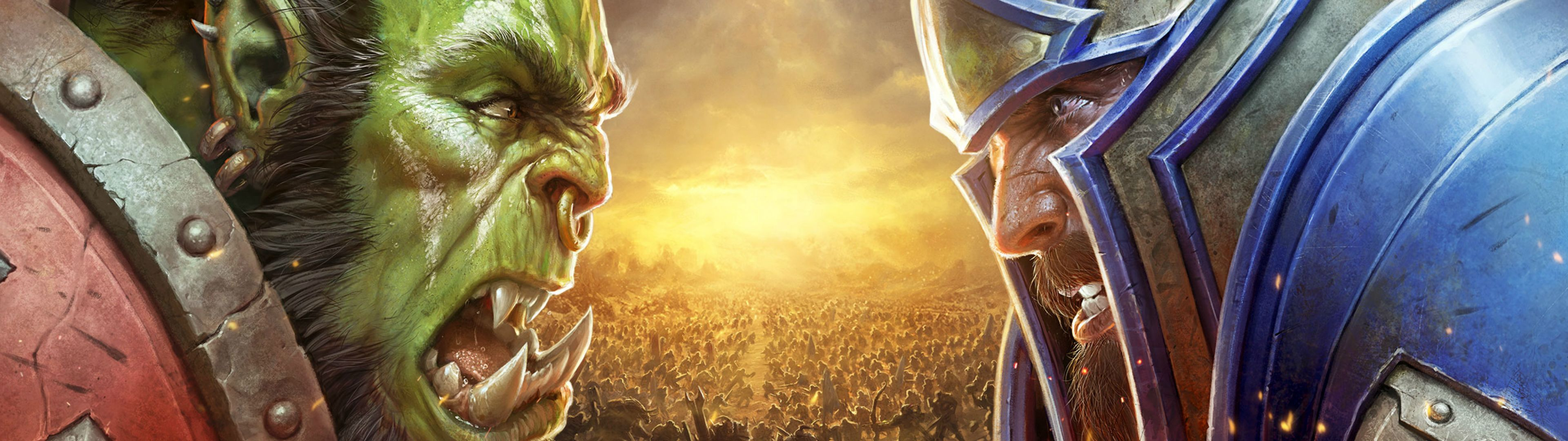 Bfa Dual Monitor Wallpaper 3840x1080 Worldofwarcraft Blizzard