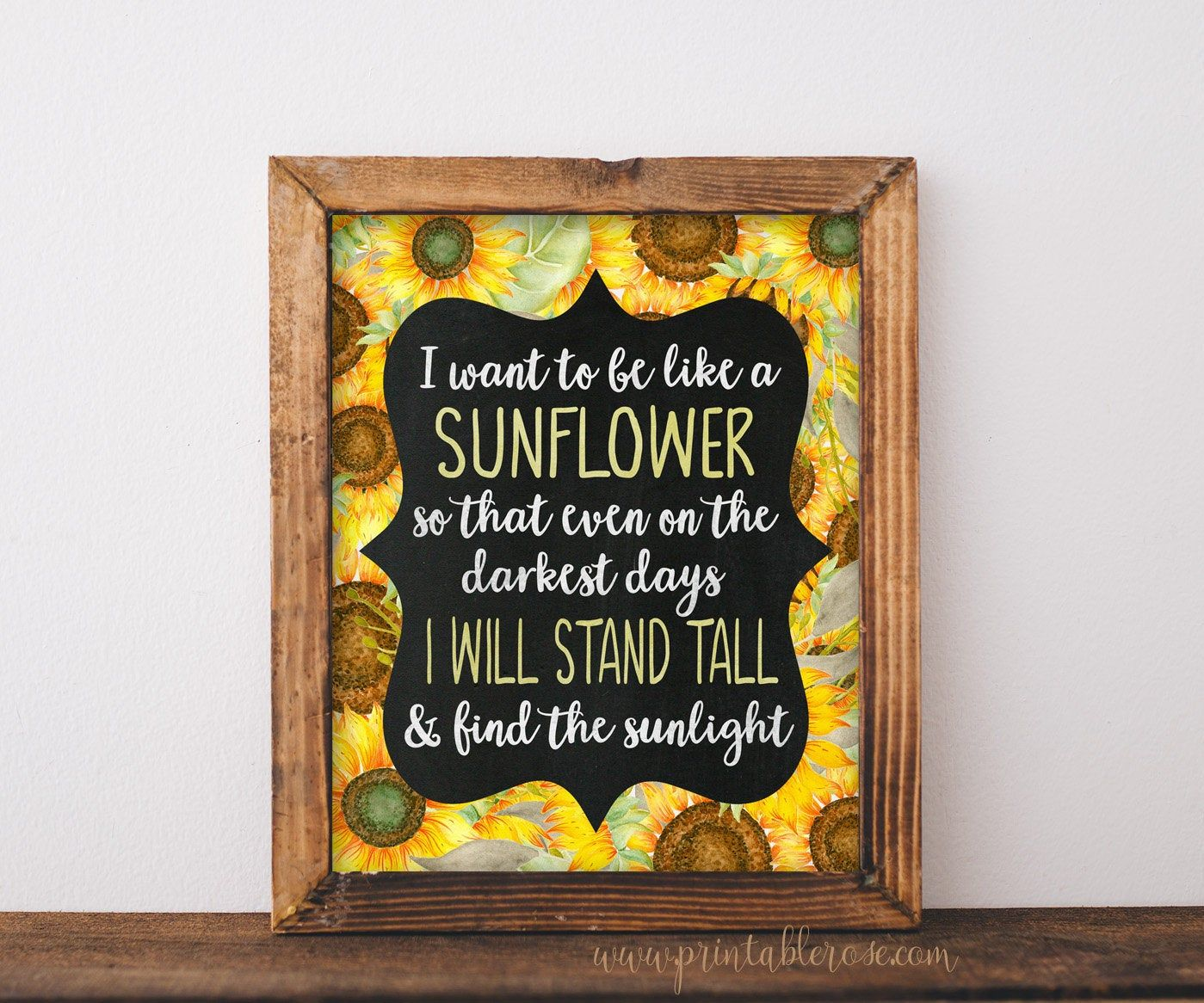 Sunflower Decor, sunflower printable, sunflower print, sunflower wall decor, sunflower wall art, inspirational, sunflower digital, sunflower