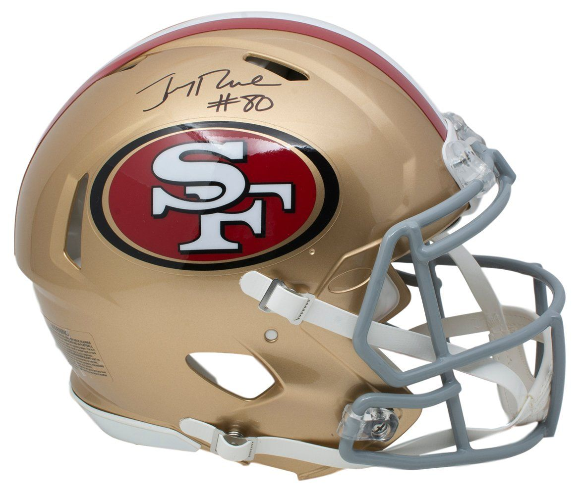 Jerry Rice Signed San Fransisco 49ers Full Size Speed