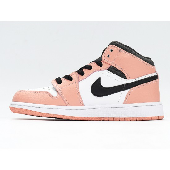 Nike Air Jordan 1 Mid Pink Quartz Unisex Basketball Shoes