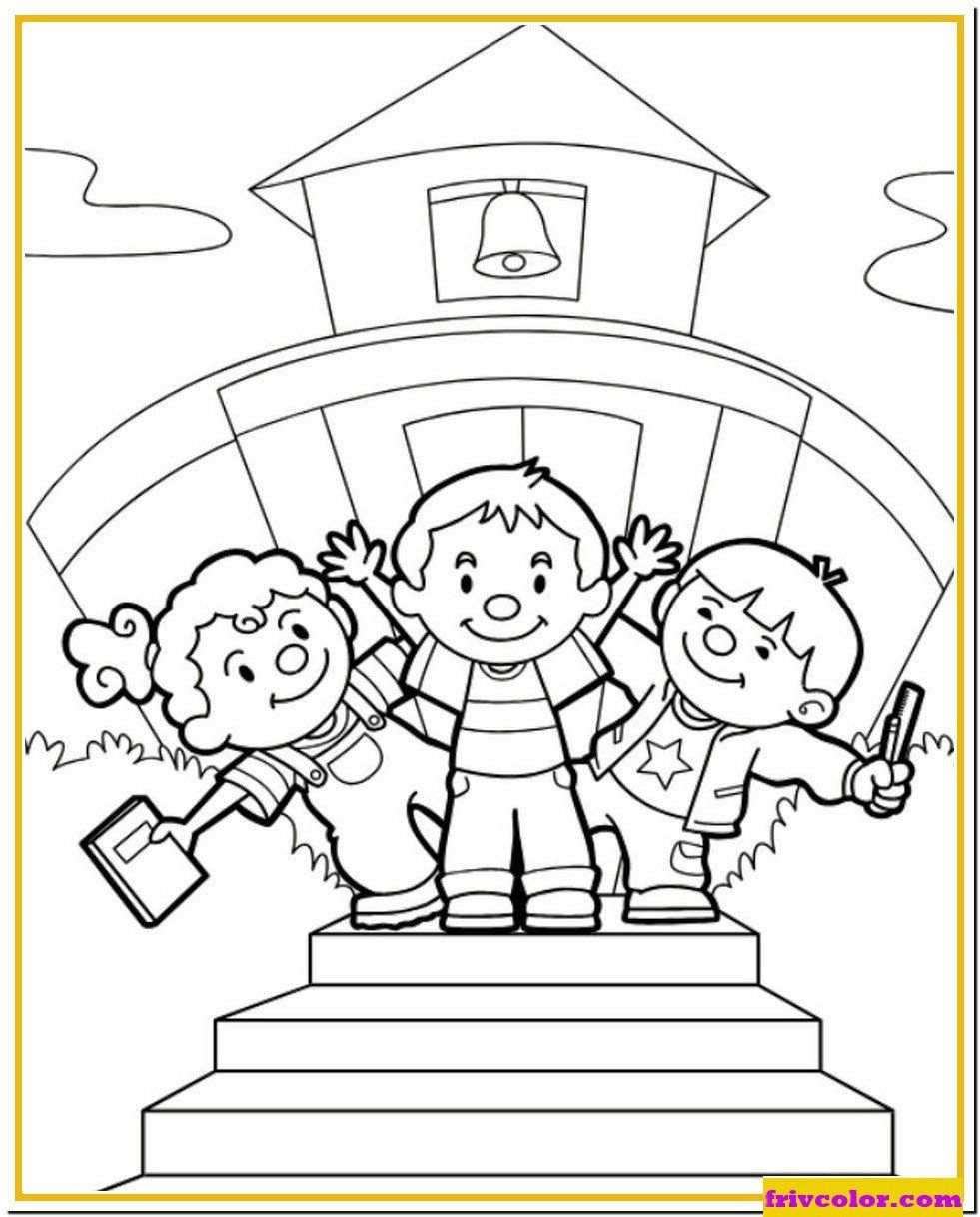 Coloring Pages Back to School Back to School September