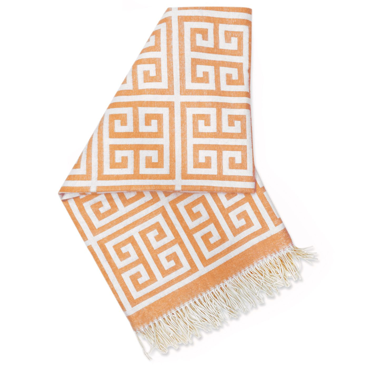 Jonathan Adler Modern Blankets And Throws Orange Greek Key Alpaca Throw In Throws Alpaca Throw Modern Throw