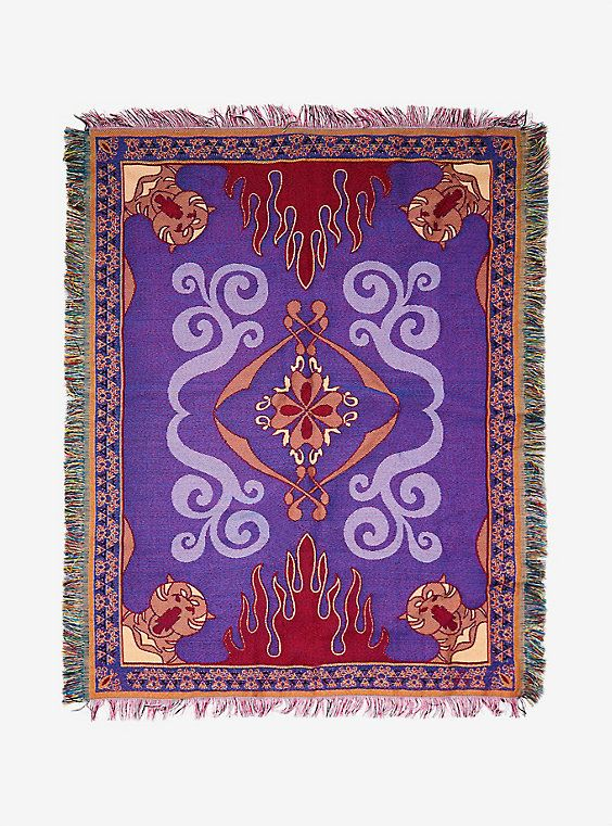 Disney Aladdin Magic Carpet Woven Tapestry Throw Blanket Magic Beauteous Pusheen Purrfect Weekend Throw Blanket