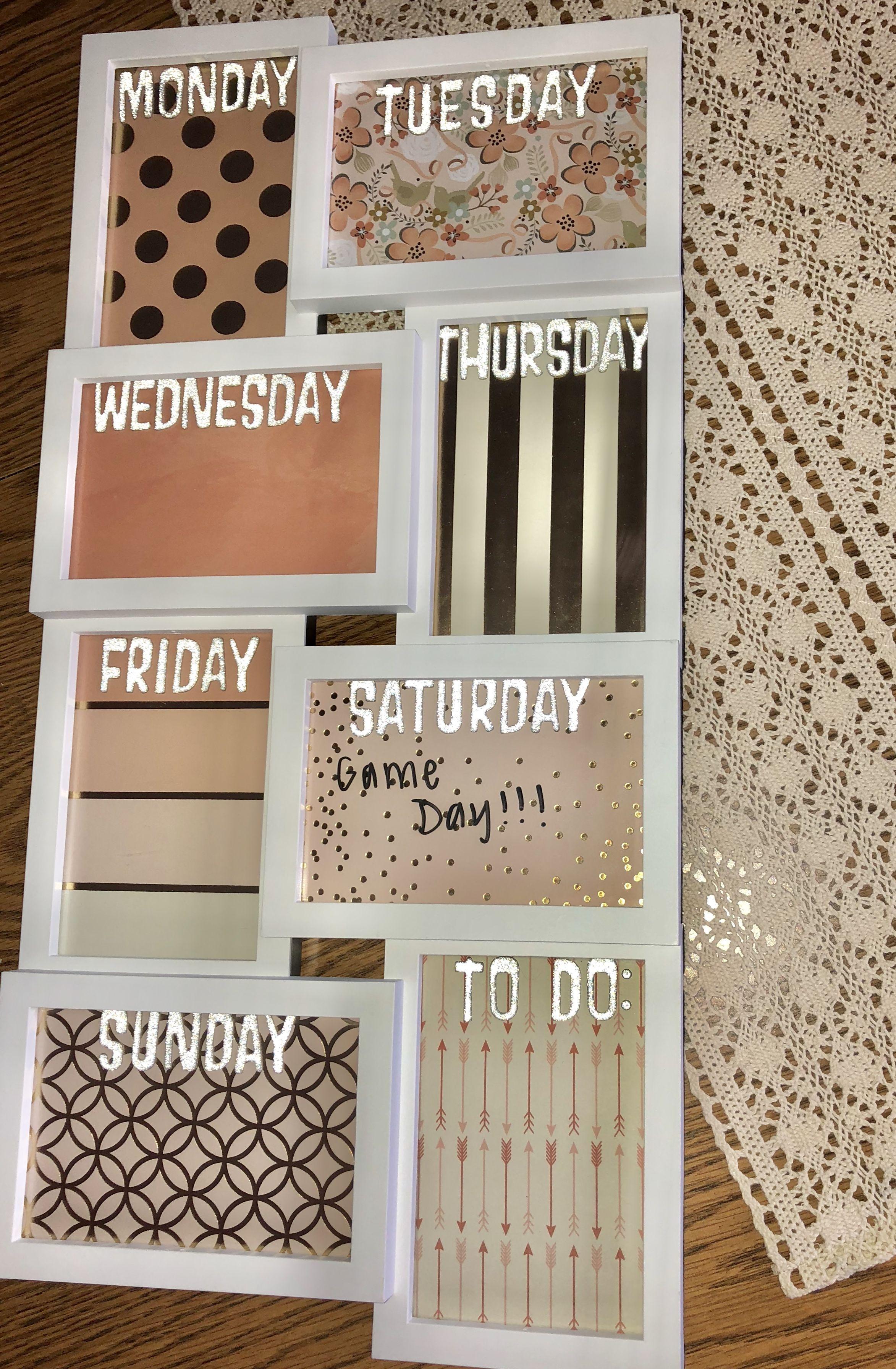 Diy Weekly Memo Board For Dorm Room Diy Room Decor For College Diy Memo Board Memo Board