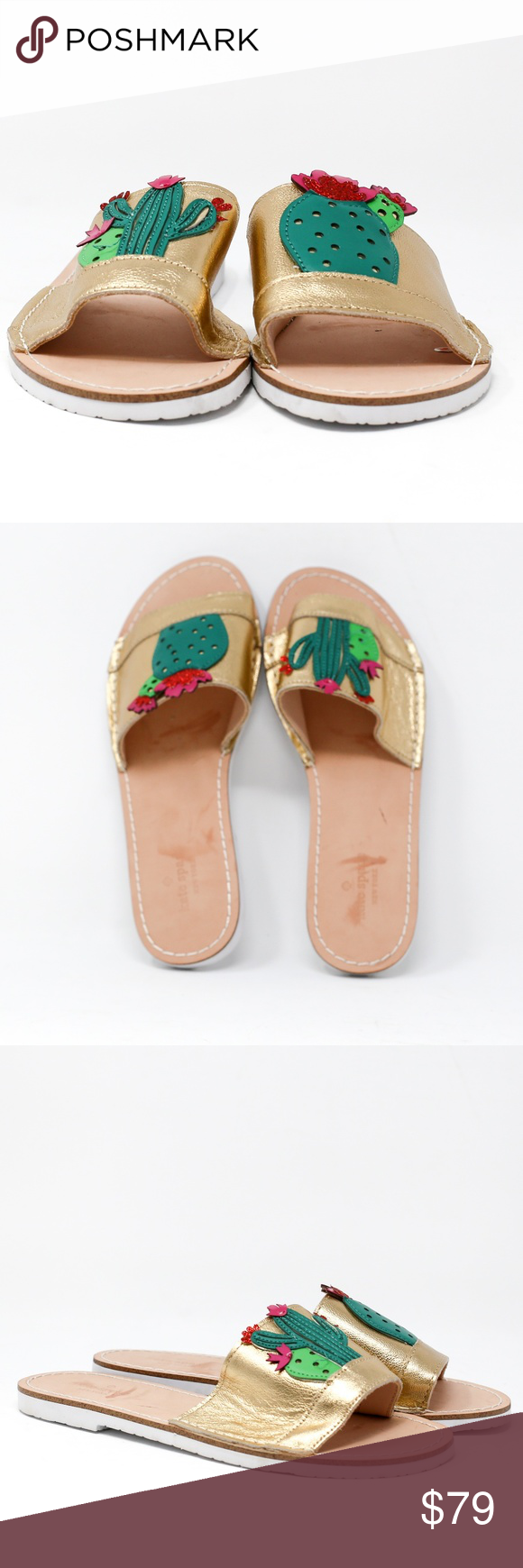 ab4d44874f6c Kate Spade New York Women s Iguana Slide Sandal Pls Note Cutomer Return or  Store Displayed Item Leather Imported Synthetic sole Platform measures ...