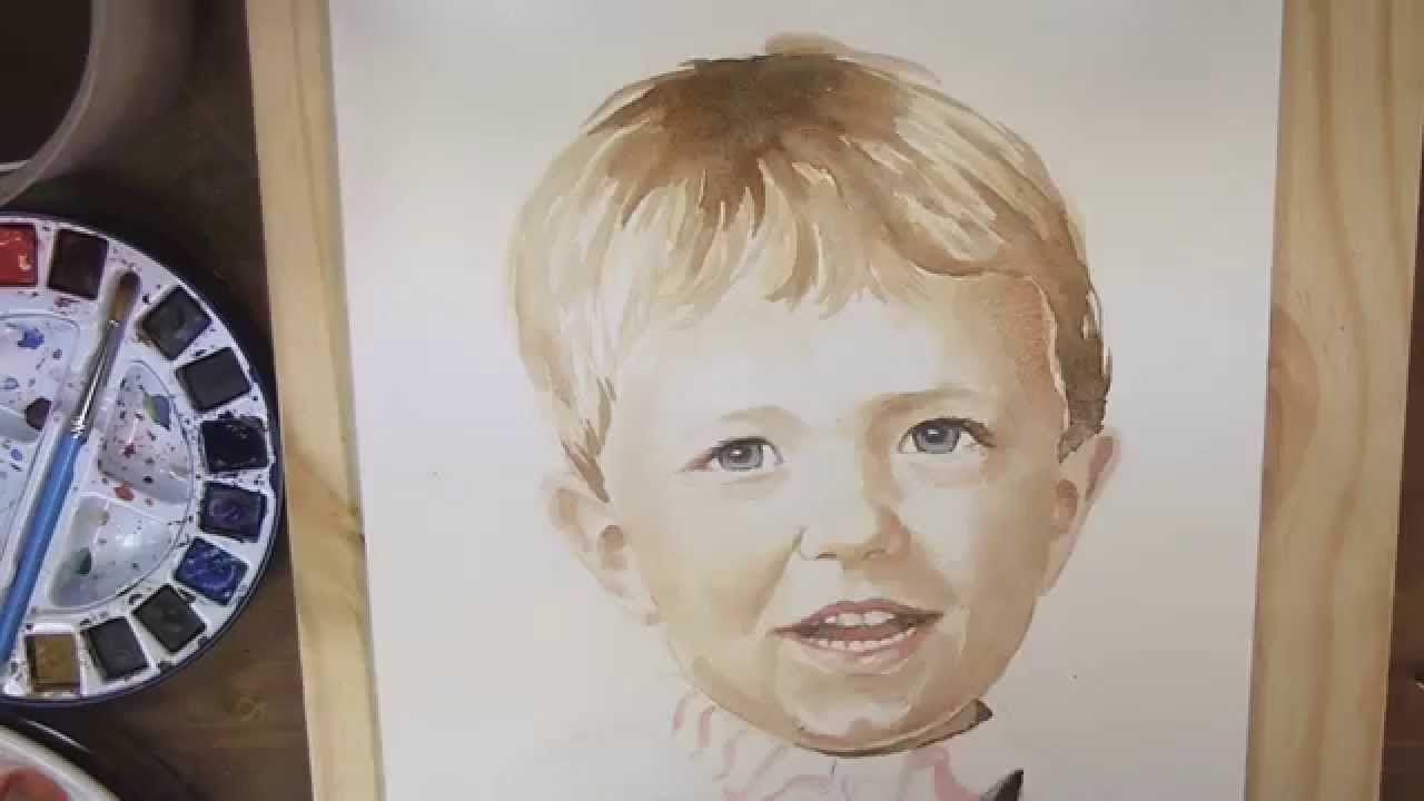 Demo Aquarelle Portrait Watercolor Portrait L Atelier De