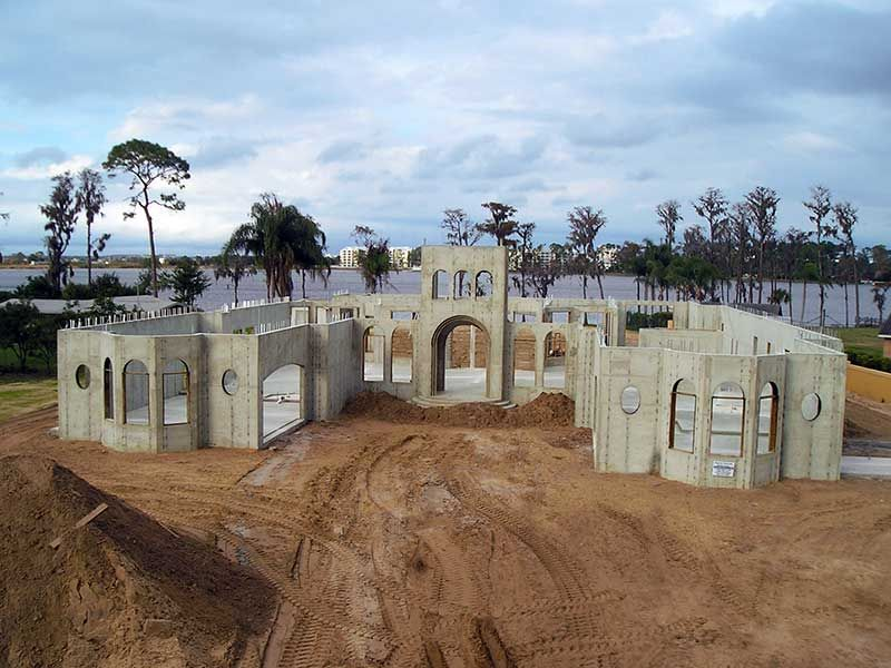 Precast concrete homes florida concrete home for Townhouse construction cost