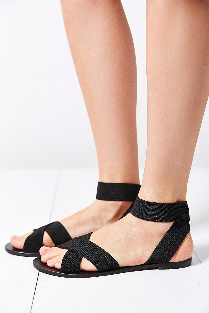 02b61614a43 Silence + noise Alexa elastic sandal in black.
