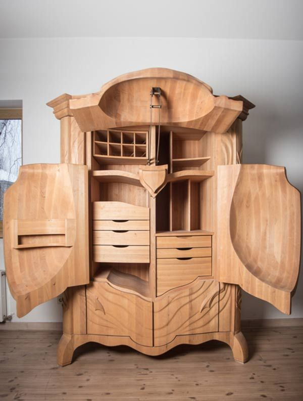 nycbugman:  archiemcphee:  Is it too soon to share another awesomely creative piece of furniture? No way! This one-of-a-kind insectoid armoire is called the BUG and it was designed Latvian designer Janis Straupe of True Latvia. Full of customizable shelves, drawers, cubbies and even a few secret compartments, it's a beautifully functional piece of furniture as well as an amazing work of art. Click here to learn more about the BUG and its myriad features. If only Kafka could've see this… [via…