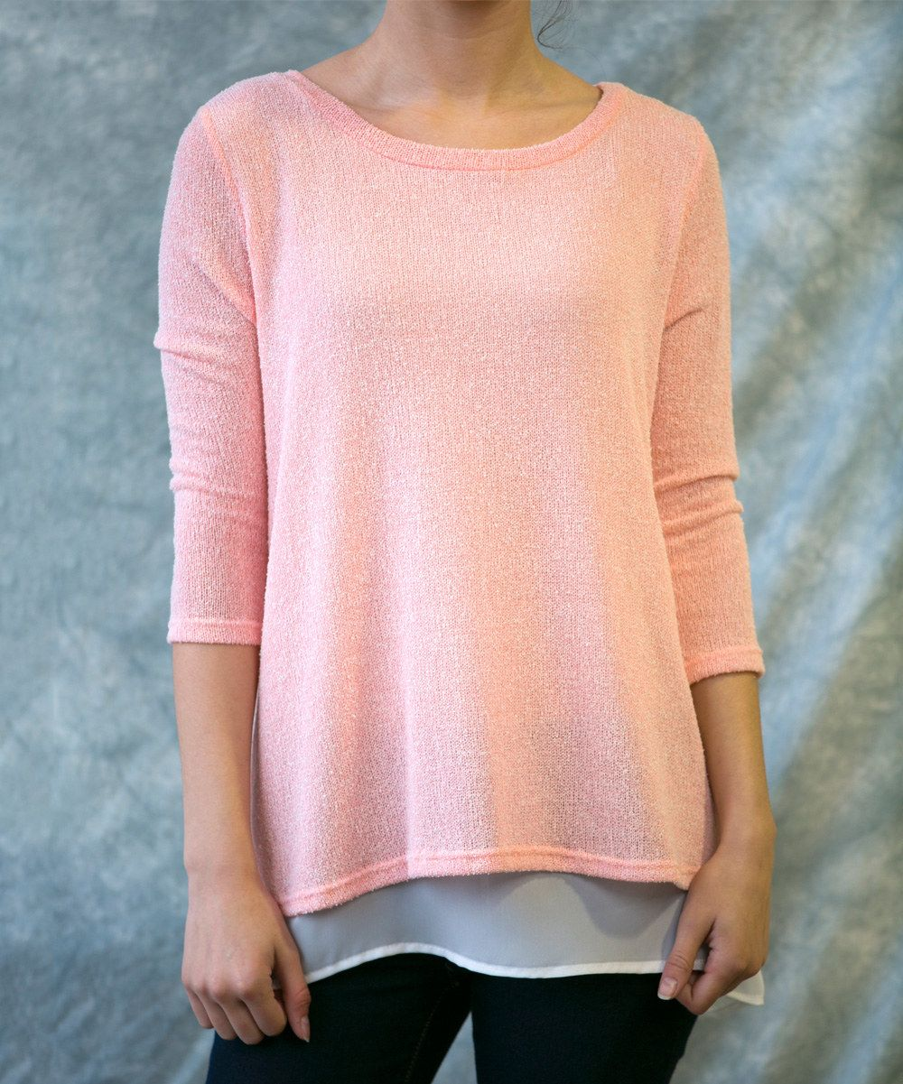 Look at this Sawyer Cove Pink Pearl Layered Tunic - Women on #zulily today!