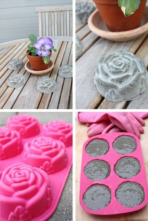 "Photo of 22 ""Do it yourself"" ideas for decorating a cement mix"