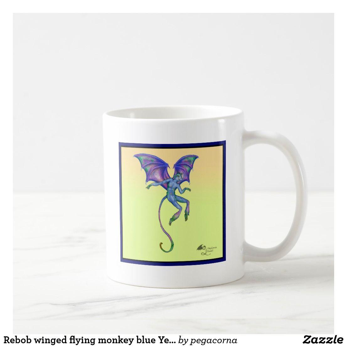 67a186a33 Rebob winged flying monkey blue Yellow Fantasy Mon Coffee Mug ...