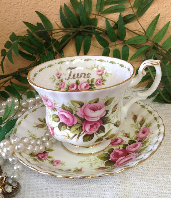 Royal Albert Flower Of The Month Quot Rose Quot Teacup And Saucer