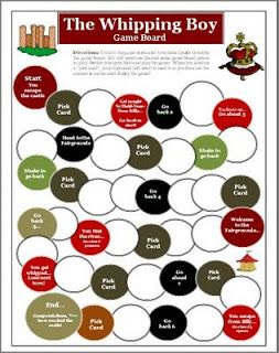 This is a reading game board activity based on the novel The Whipping Boy by Sid Fleischman.  Common Core Reading Standards 1, 5   This 16-p...