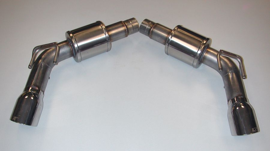 Lingenfelter Camaro SS Axle Back Stainless Exhaust 4.0 Polished Tips 2010-13  Click image for details >
