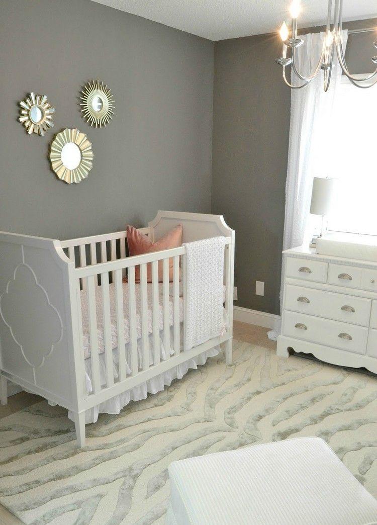 Babyzimmer Wande Grau Streichen Weisses Mobel Set Furniture